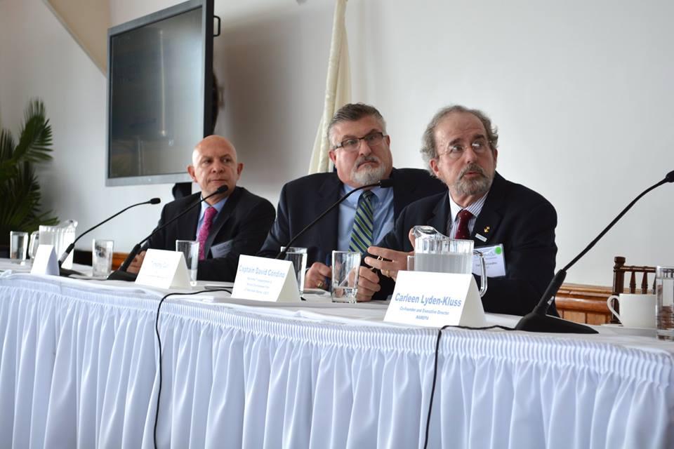 Mr. Jorge Durán, Chief of the CIP Secretariat, presenting about Port Waste Reception Facilities