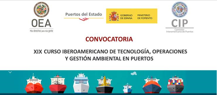 XIX Curso Iberoamericano de Tecnología, Operaciones y Gestión Ambiental en Puertos