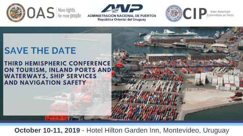 Save the Date - 3rd Hemispheric Conference on Inland Ports and Waterways and Dredging