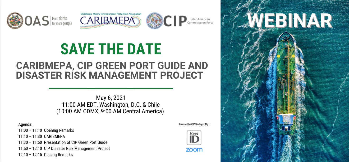 Banner Webinar CARIBMEPA, CIP Green Guide and DRM